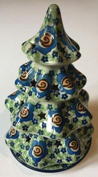 Kerstboom groen/blauw, voor waxinelicht