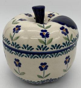 Appelpot blauw blauwe bloem
