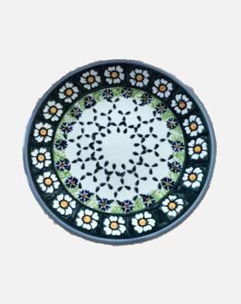 Gebaksbord groen met bloemen