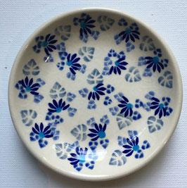 Petif fours bordje blauwe bloem