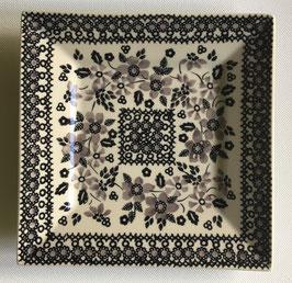 Vierkanten gebaksbord zwart