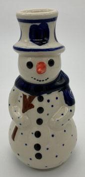 Sneeuwpop hart voor kaars