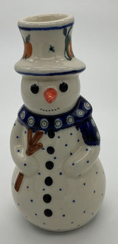 Sneeuwpop appel/peer voor kaars