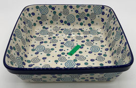 Vierkanten ovenschaal blauwe apestaartje