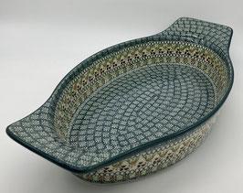 Ovalen ovenschaal met handvat summer
