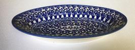 Ovalen schaal blauwe tulp