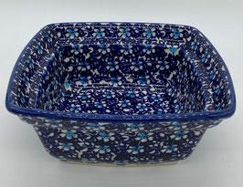 Vierkanten schaal blauwe bloem