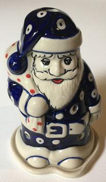 Kerstman licht blauwe bloem voor waxinelichtje
