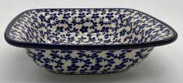 Vierkanten schaal blauw bloemetje