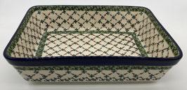 Rechthoekige ovenschaal groen en bruine ruit