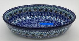 Ovalen ovenschaal blauw motief