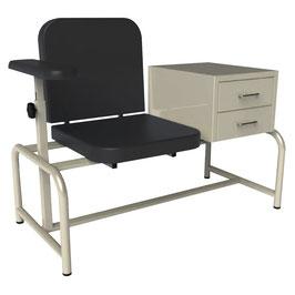 MES901P Mesa con silla premium para toma de muestras, esmaltada