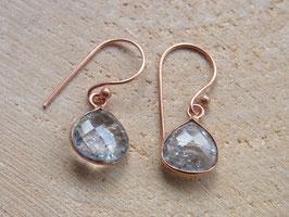 Ohrringe mit Bergkristall - Kupfer