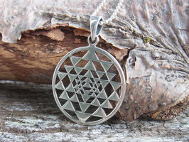 SRI YANTRA Kette mit Sri Yantra Symbol Silber