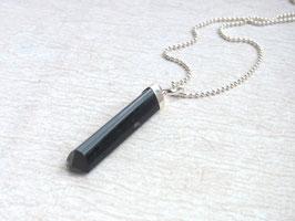 PROTECTION Kette mit schwarzem Turmalin Kristall Anhänger