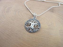 TREE OF LIFE Kette mit Baum des Lebens Anhänger - Silber
