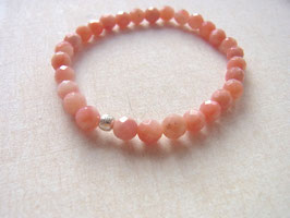 TIME FOR LOVE Armband mit rosa Andenopal Steinen