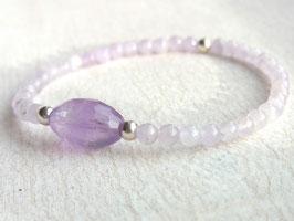 ANGELICA Armband mit Lavendel Amethyst und Silber