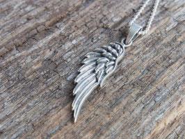 I AM GUIDED Kette mit Engelsflügel aus Silber