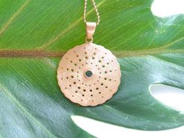 HEART BLISS Kette mit grünem Turmalin Amulett gold