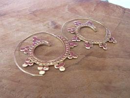FUSION Ohrringe aus vergoldetem Messing