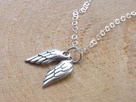 ANGELWINGS Kette mit zwei Engelsflügel Anhänger Silber