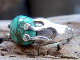SACRED Ring mit grünem Türkis