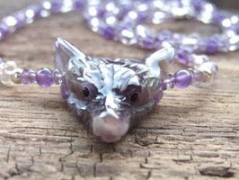 WOLF CLARITY & SPIRITUALITY Kette mit Amethyst und Bergkristall