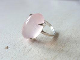 PURE LOVE Ring mit Rosenquarz, Silber