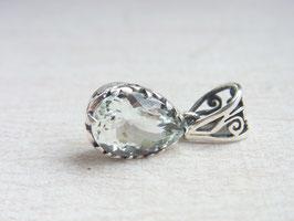 TRUTH Anhänger mit facettiertem Aquamarin - Silber