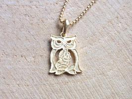 OWL Vergoldete Kette mit Eule Anhänger