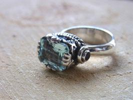 AQUA DREAM Ring mit Aquamarin und Blautopas
