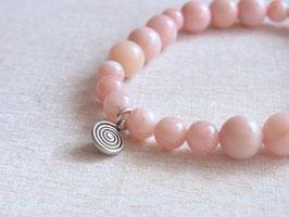 LOVE ENERGY Armband mit rosa Andenopalen und Silberspirale