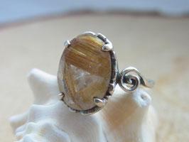 ANGEL HAIR Ring mit Rutilquarz Silber  - UNIKAT