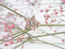 STARSEED Kette mit Stern und Blautopas Anhänger - Silber