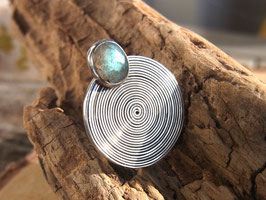 EGYPT SPIRAL Ring mit Labradorit - Sterlingsilber