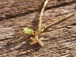 GOLDEN SEA STAR Kette mit Seestern Anhänger und Peridot vergoldet