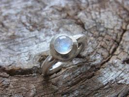 MOON Ring Regenbogen Mondstein Silber - Handarbeit