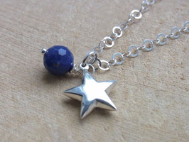 THE BLUE STAR Kette mit Sodalith und Silberstern