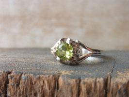 JOYFUL Ring mit facettiertem Predigt, Silber