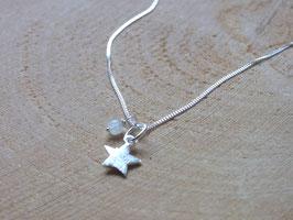LITTLE STAR Kette mit Stern und Mondstein - Silber