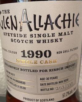 Glenallachie 1990 Single Cask 30 y.