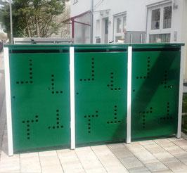 3er Mülltonnenbox 240 XL mit Klappdach