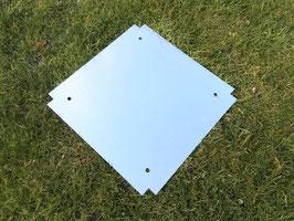 Bodenblech für Pflanzkasten / Blumenkasten - quatratisch
