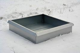 Hochbeet Metall mit Schneckenzaun 1m x 1m x 23 cm hoch