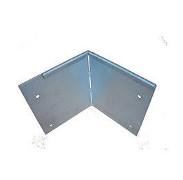 Cortenstahl Rasenkanten Eckprofil biegbar - 1 Stück 10cm x 10cm x 1 mm und 24 cm hoch