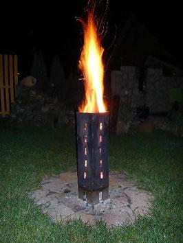 Schwedenfeuer aus Stahl 60 cm x 15 cm