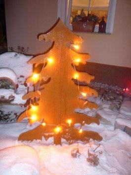 Weihnachtsbaum NORDI in Edelrost in versch. Größen