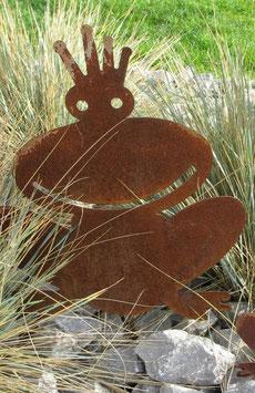 Frosch FRIDOLIN in Edelrost 120 cm groß / Durchm. 80 cm