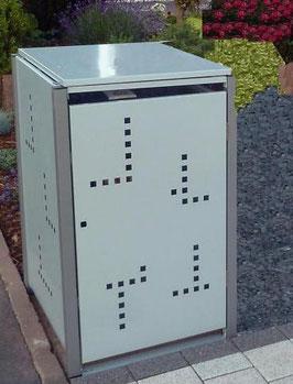 1er Mülltonnenbox 120L mit Klappdach